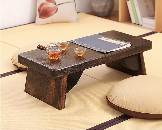 Asian Antique Furniture Japanese Floor Tea Table Rectangle Living
