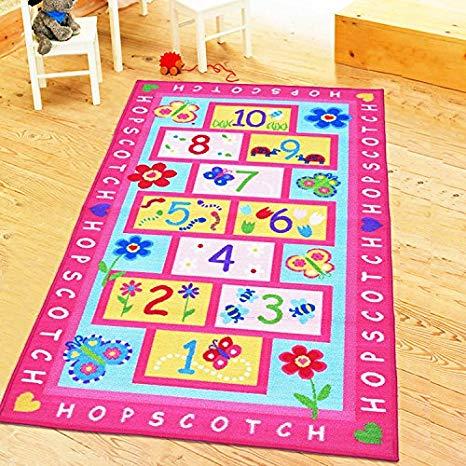 Amazon.com: HUAHOO Pink Rug Girls Pink Kids Rug Children's Rugs Baby