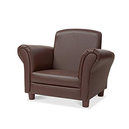 Amazon.com: Melissa & Doug Child's Armchair, Coffee Faux Leather