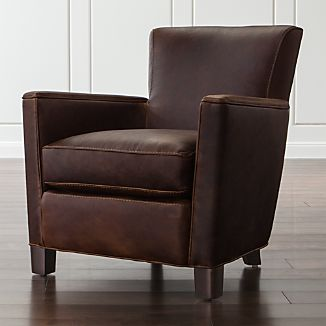 Leather Chairs | Crate and Barrel