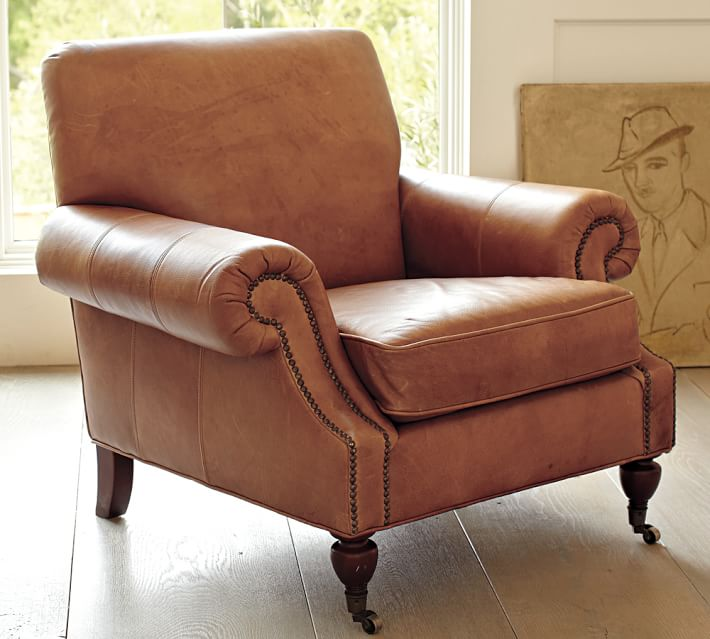 Brooklyn Leather Armchair | Pottery Barn