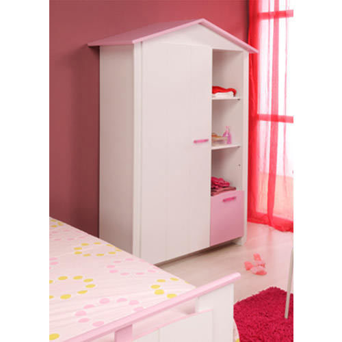 Basswood 3/4/5 Shelves Kids Wooden Wardrobe, Rs 4500 /piece | ID