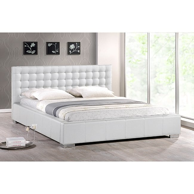 Shop Madison White Modern King-size Bed with Upholstered Headboard