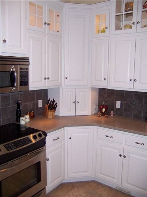 Upper Corner Kitchen Cabinet Ideas | Corner cabinets - upper, lower