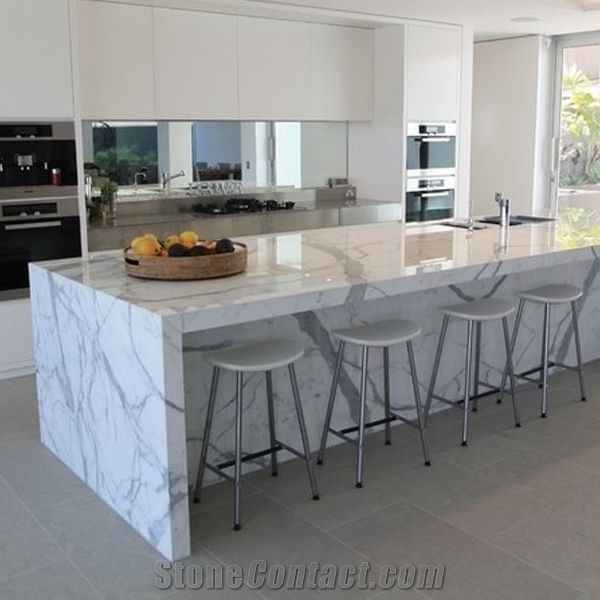 Calacatta Carrara White Marble Counter Top/Kitchen Tops/Natural