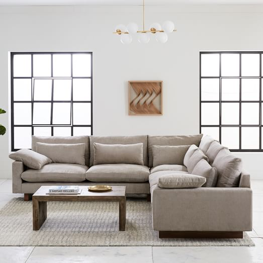 Harmony Down-Filled L-Shaped Sectional | west elm