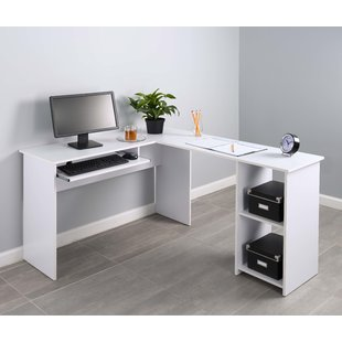 L-Shaped White Desks You'll Love | Wayfair