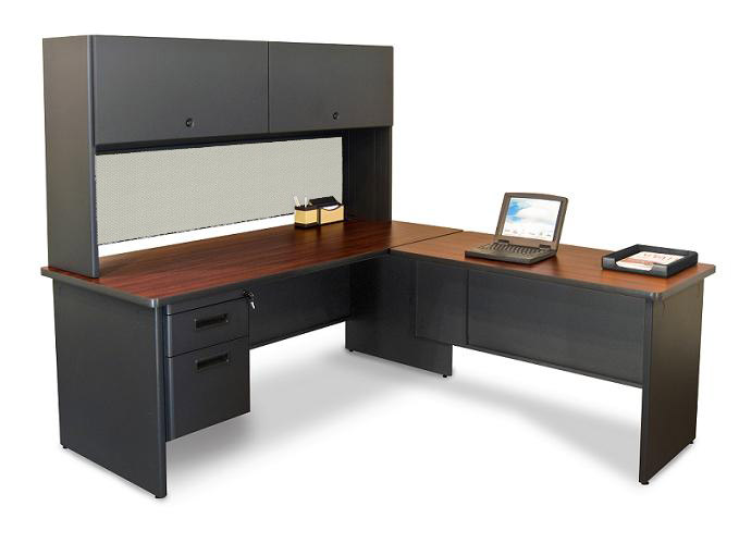 Marvel Pronto L Shaped Desk W/ 1 File Drawer - Prnt4 | L-Shaped
