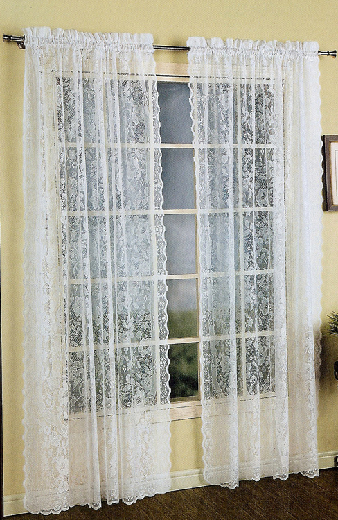 Windsor Lace Curtain - White - United - View All Curtains