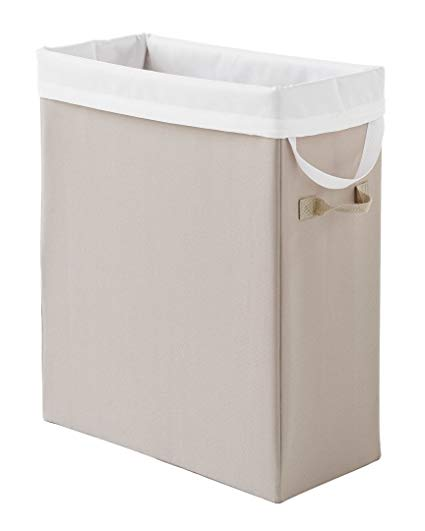 Amazon.com: Neatfreak Slim Space-Saving Laundry Hamper,Beige: Home