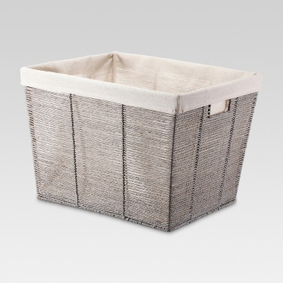 Gray Rectangular Laundry Basket - Threshold™ : Target