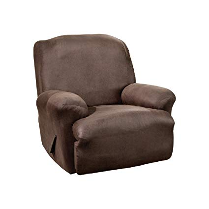 Amazon.com: Surefit Stretch Leather 1-Piece - Recliner Slipcover