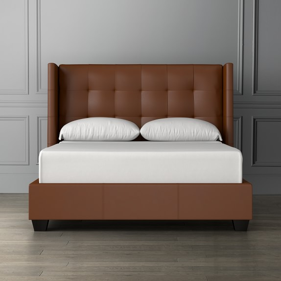Leather Headboards & Leather Beds | Williams Sonoma
