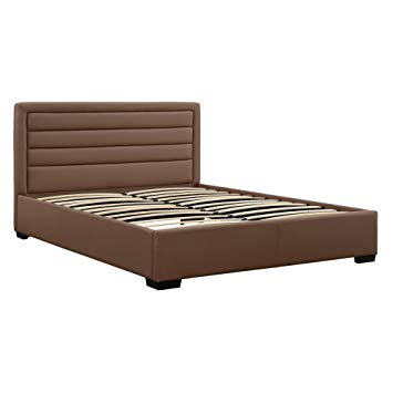 Amazon.com: DHP 4017307 Manhattan Premium Faux Leather Bed, Taupe