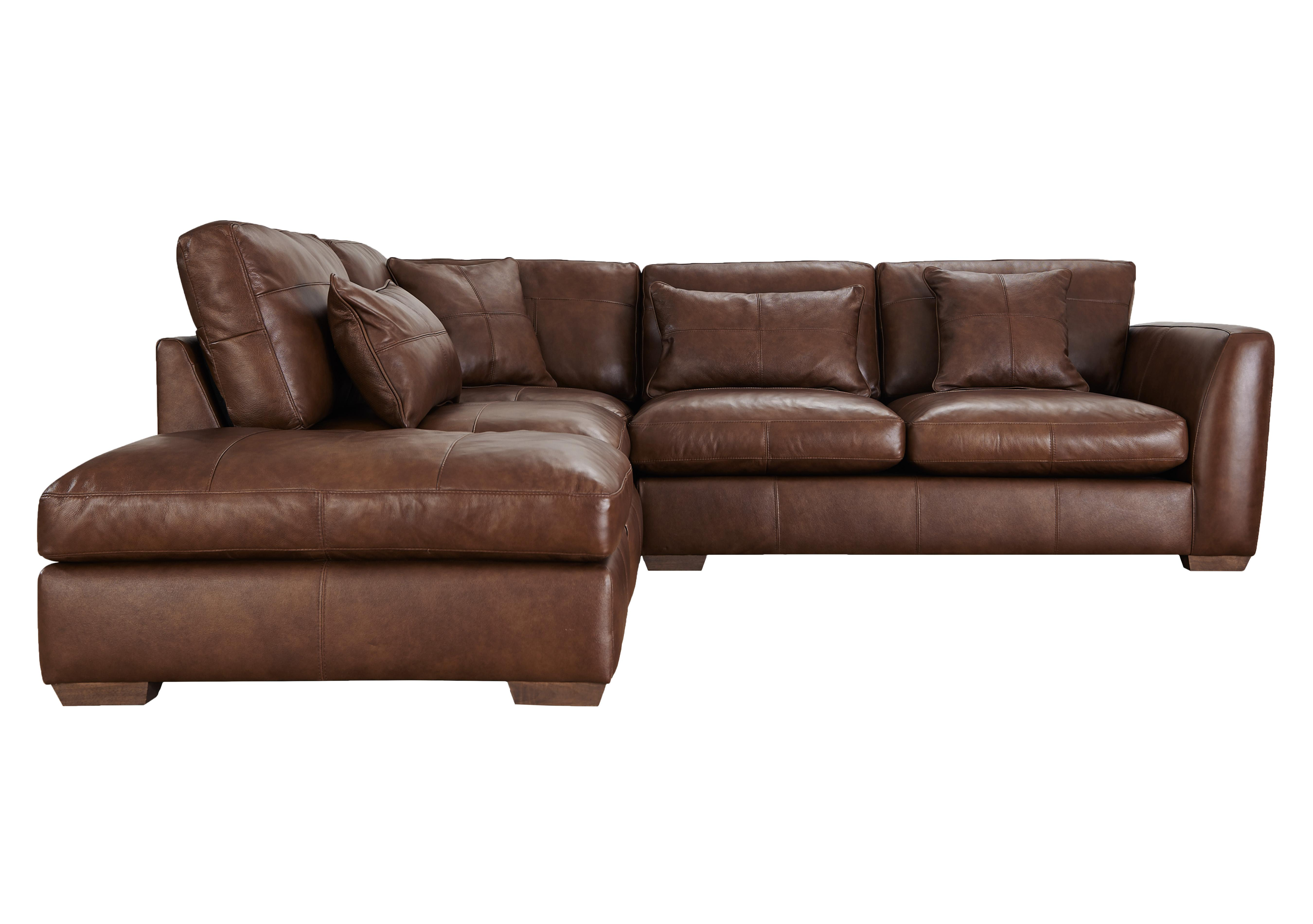Savannah Leather Corner Sofa - Furniture Village