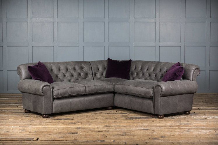 Mr. Wallis Leather Corner Sofa
