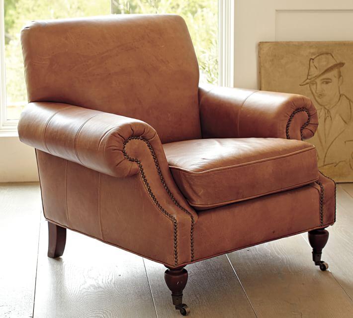 Brooklyn Leather Armchair | Pottery Barn