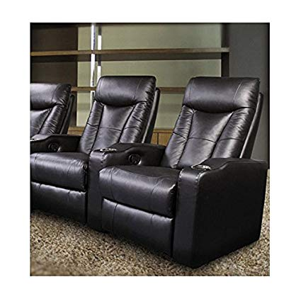 Amazon.com: Pavillion Theater Seating - 2 Black Leather Chairs