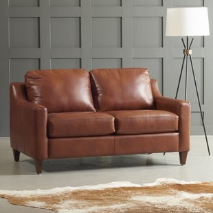 Hunter Green Leather Loveseat | Wayfair