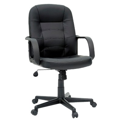 Office Chair Bonded Leather Black - Room Essentials™ : Target