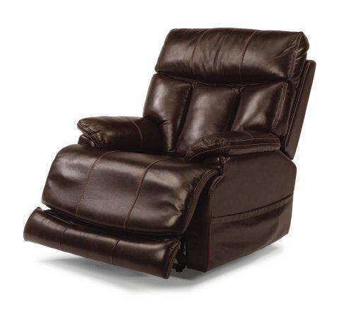 Flexsteel Clive Leather Power Recliner with Power Headrest 1595-50PH