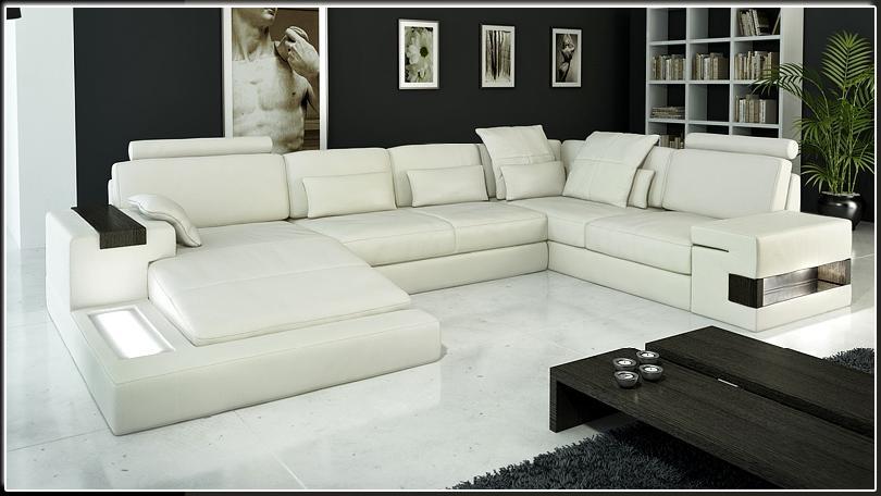 Modern Italian Leather Sectional Sofa CP-1692