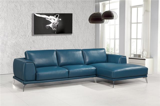 Modern genuine leather sofas l shape sofa set designs leather sofa