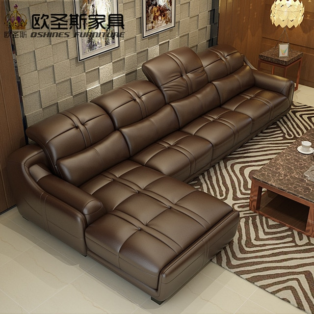 brown leather sofa set, contemporary leather sofa,elegant leather