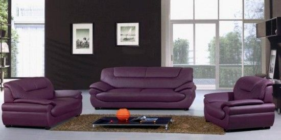 Someday I will have a purple leather couch | For the Home