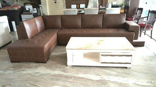 6 Seater Brown Designer Leather Sofa Set, Rs 49000 /set, Kenya
