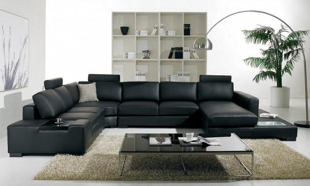 15 Classy Leather Sofa Set Designs