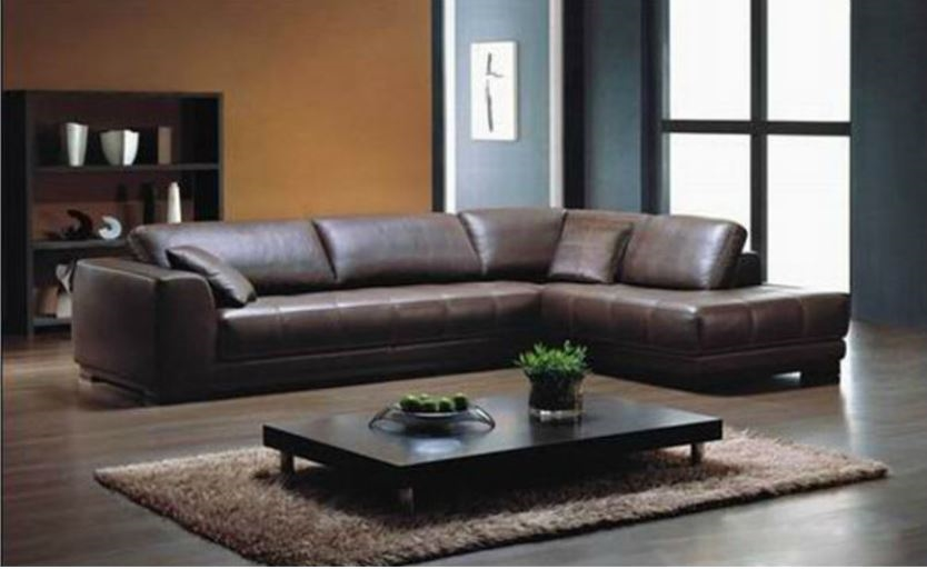 Red leather sectional | L shaped sectional sofas | Red leather sofa