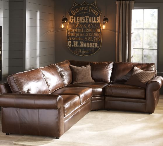 Leather Sectionals & Leather Modular Sofas | Pottery Barn