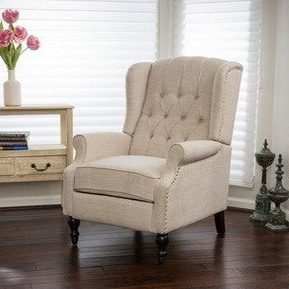Shop Christopher Knight Home Walter Light Beige Fabric Recliner Club