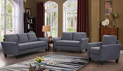 Amazon.com: Harper&Bright Designs 3 Piece Sofa Loveseat Chair