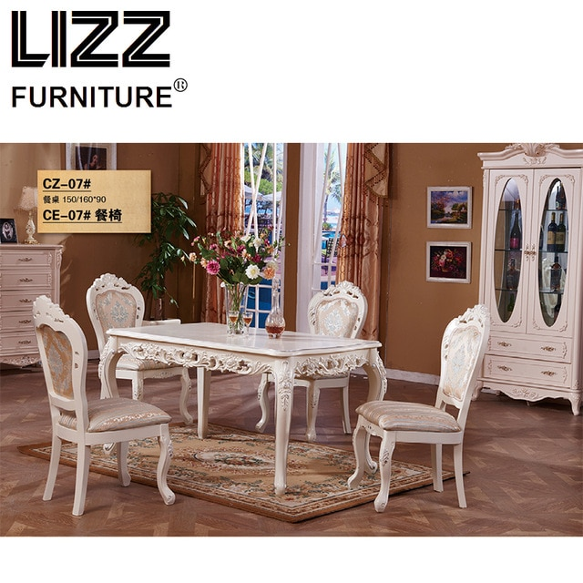 Marble Dining Table Dining Room Furniture Set Royal Furniture