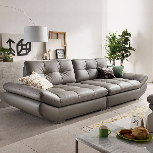 genuine leather sofa sectional living room sofa corner home