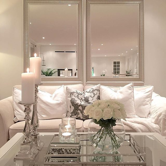 Living room, mirrors behind couch | For the Home