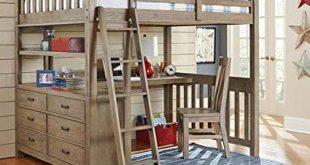Amazon.com: NE Kids Highlands Full Loft Bed with Desk in Driftwood