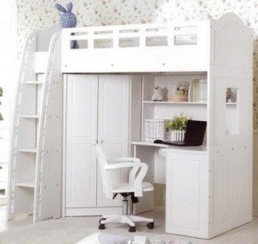Full Size Loft Bed With Desk - Visual Hunt