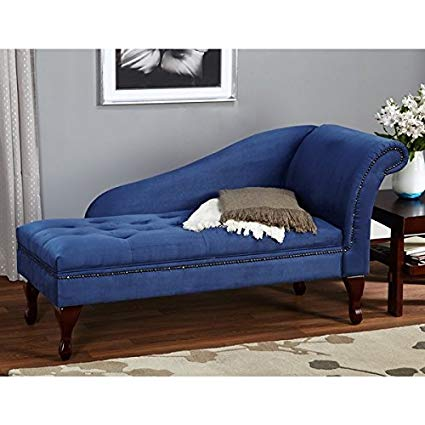 Amazon.com: Blue Chaise Storage Lounge Chair Sofa Loveseat for