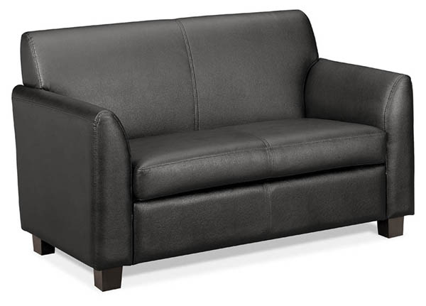 HON basyx Series Leather Lounge Seating u2013 Loveseat u2013 School and