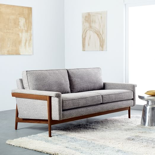 Leon Wood Frame Loveseat (68
