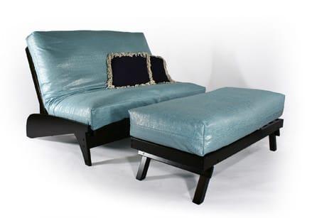 Dillon Black Queen Loveseat Futon Frame by Strata Furniture