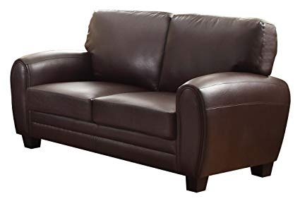 Amazon.com: Homelegance 9734DB-2 Upholstered Loveseat Bonded Leather