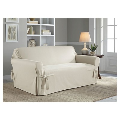Relaxed Fit Duck Furniture Loveseat Slipcover - Serta : Target