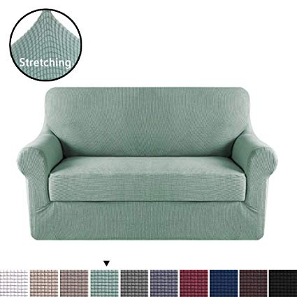 Amazon.com: H.VERSAILTEX 2 Pieces Loveseat Slipcovers Stylish