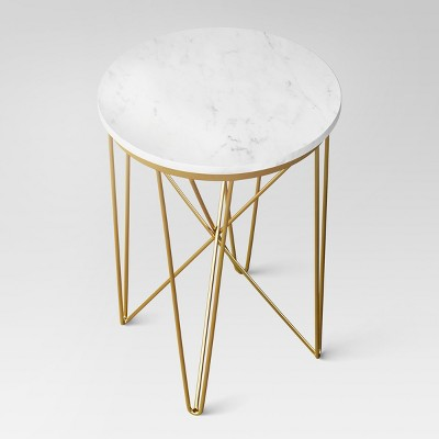 Marble Top Round Table Gold - Project 62™ : Target