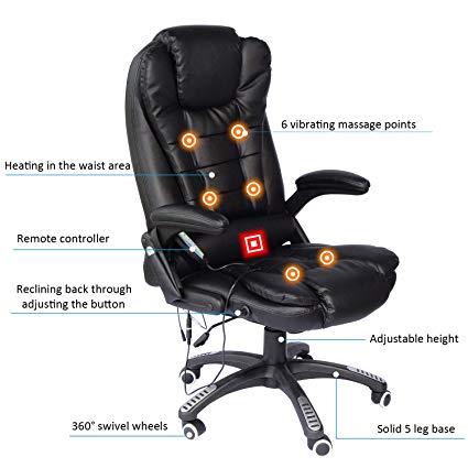 Amazon.com: Home Office Computer Desk Massage Chair Executive