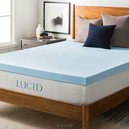 Amazon.com: LUCID 3-inch Gel Memory Foam Mattress Topper - Queen